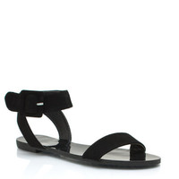 Big-Buckles-Dont-Lie-Sandals BLACK NUDE - GoJane.com