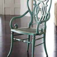 Green Scroll Armchair - Horchow