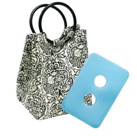 Fit & Fresh Retro Insulated Designer Lunch Bag with Removable Ice Pack