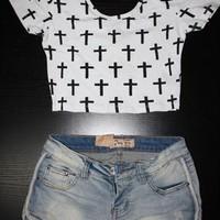 Womens Multi Cross Crop Top from SarahHunt
