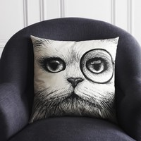 Monocle Cat Cushion