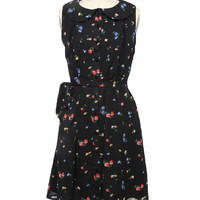 Ditsy Dress - Black