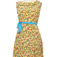 Right on the Dot Dress - Yellow