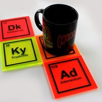 Periodic Table Science Fiction Fanboy Geek Wolverine Superman Avatar Dr Who Coasters