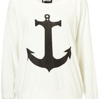 Anchor Raglan Sweater by Illustrated People** - Jersey Tops - Clothing - Topshop