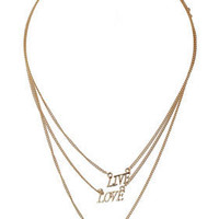 Love Live Laugh Necklace - Jewellery - Accessories - Topshop