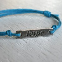 Hope message bracelet