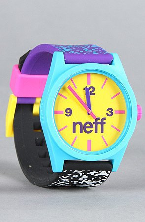 NEFF The Daily Watch in Multi Speckle,Watches for Unisex