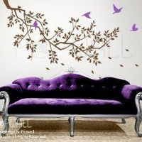 vinyl wall sticker decal  Spring Branch and Flying by NouWall