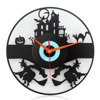 YCC Wizard Attack CD Wall Clock Color Black