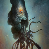 Yawanpok the Void Menace Art Print by Mark Facey