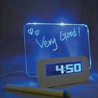 GNG Message Board Digital Alarm Clock with LCD Calendar 4 Port USB Hub:Amazon:Everything Else