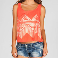 FULL TILT Faded Ethnic Print Womens Open Back Tank