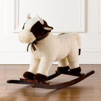 cuddle plush cow rocker | plush | Restoration Hardware Baby &amp; Child