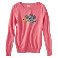 Mossimo Supply Co. Juniors Long Sleeve Hedgehog Sweater - Pink