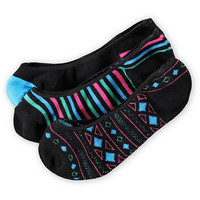 Empyre Girls 3-Pack Rain Dance Black No Show Socks at Zumiez : PDP