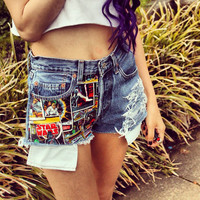 Star Wars High Waisted Denim Shorts