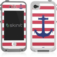 Skinit Nautical Stripes Vinyl Skin for Lifeproof for Apple iPhone 4 / 4s