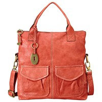 Buy Fossil Modern Cargo Convertible Tote Handbag, Rose online at JohnLewis.com - John Lewis