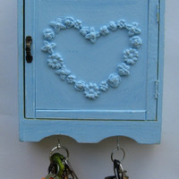 key organizer key hanger key box Soft blue Shabby  Chic