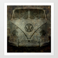 VW Ghost Kombi Art Print by Bruce Stanfield