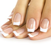 French Tip Nail Polish Strips & Top Coat