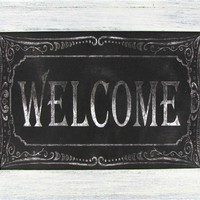 Black & White Welcome Chalkboard Framed Art | Shop Hobby Lobby