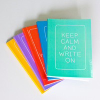 SET OF 5 - LARGE Statement Notebooks