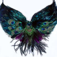 Tribal Peacock Feather Belly Dance BRA custom von sajeeladesign