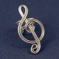Ear Cuff Treble Clef Silver Colored by ShutUpAndCuffMe on Etsy