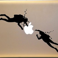 Scuba Diver Diving Vinyl Decal for Macbook PC MAC Laptop