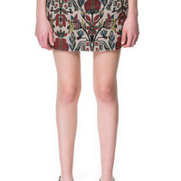 JACQUARD PATTERN MINISKIRT - Skirts - Woman - Sale | ZARA United States