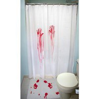 ThinkGeek :: Horror Movie Shower Curtain & Bath Mat