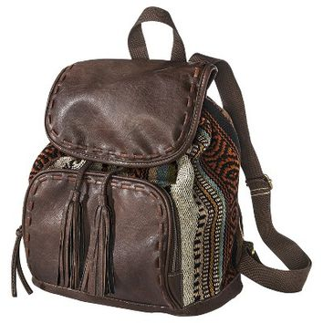 Target Limited Edition Blanket Embroidered Backpack - Brown