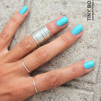 14 Thin Stacking Rings  Knuckle Rings  Thin Knuckle by TinyBox12