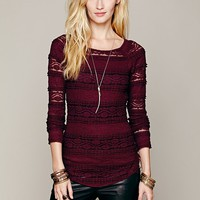 Free People Textured Lace Top