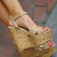 Get Your Tan On Wedge: Tan | Hope's