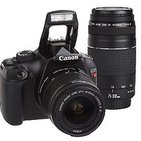 Canon EOS Rebel T3 DSLR 12MP Camera with 2 Lenses & Bag — QVC.com