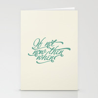 If not now when Stationery Cards by INDUR