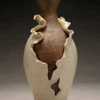 Unfurling Vase glazed ceramic pottery by WitchCraftsCorner on Etsy