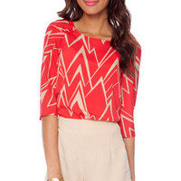 Unzig Me Top in Red :: tobi