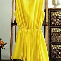 Chiffon Dress with Uneven Brim TOJ895 from topsales