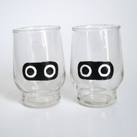 Blooper Drinking Glasses Set of Two Mario by BasementInvaders
