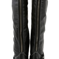 Breckelle's Outlaw-91 Black Knee Riding Boots | MakeMeChic.com