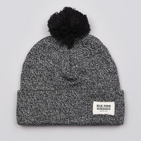 Flatspot - Blk Pine Workshop Tight Knit Pom Pom Beanie Black Marled