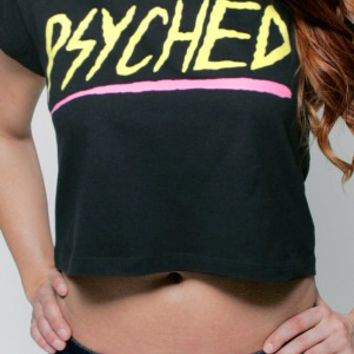 Glamour Kills Clothing - Girls Psyched Cap Sleeve Crop Top