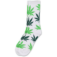 HUF Plantlife White & Green Crew Socks at Zumiez : PDP