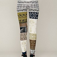 Free People  Patchwork Sweater Legging at Free People Clothing Boutique