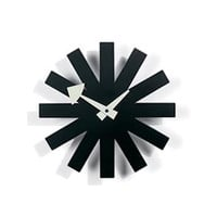 Vitra Asterisk Clock Black by George Nelson