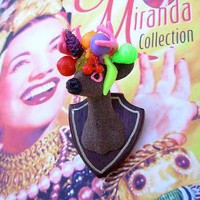 Buck Yourself Brooch  Carmen Miranda Edition by kitschygalore